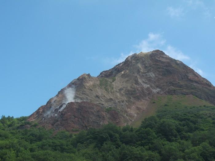 昭和新山山脚下的面貌。
