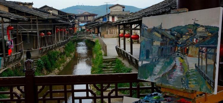 下梅村即景(二)