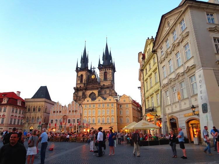 欧洲布拉格老城广场