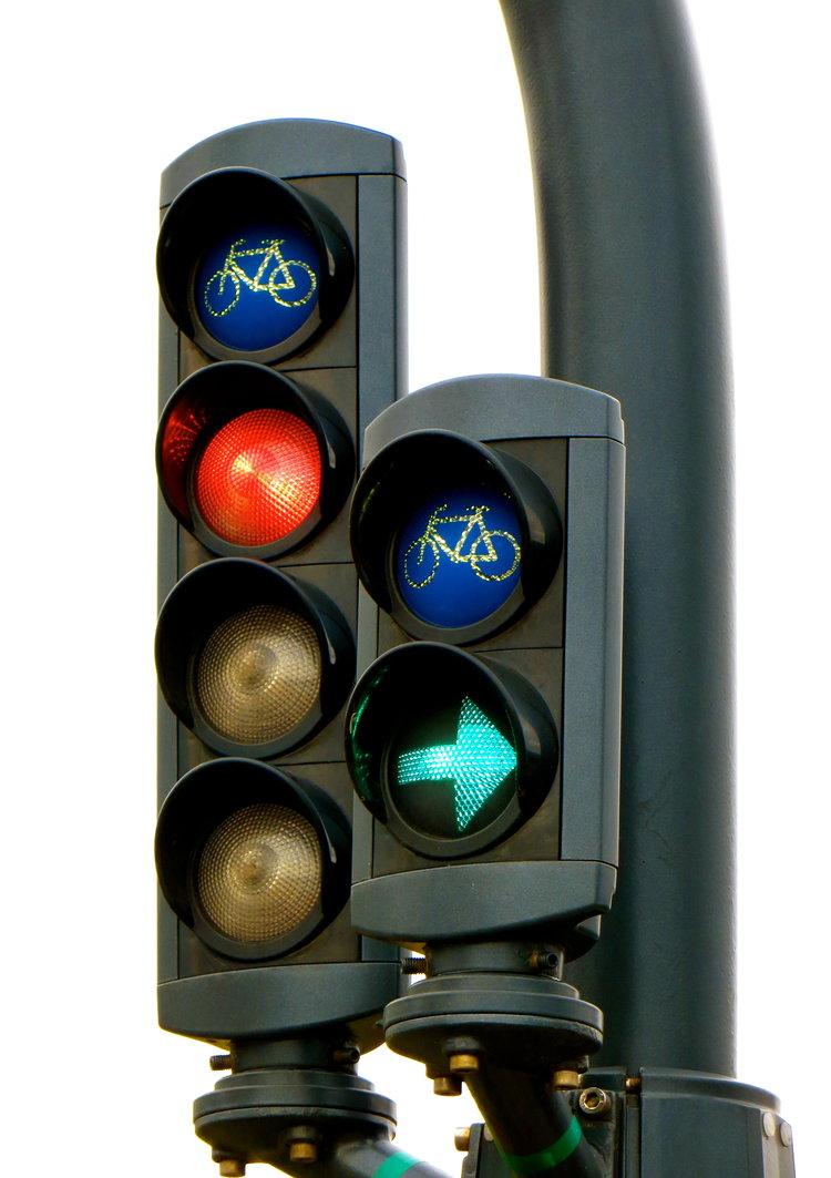 专属自行车的交通灯,乖乖守规矩就能减少意外发生!