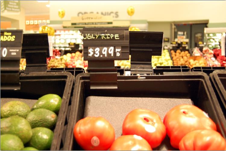 比原价便宜的蔬果,一起响应环保哦!