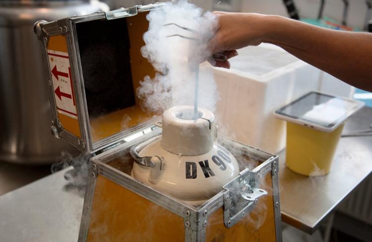 零下190度冷冻精子。