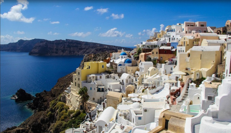 2) Santorini Cyclades
