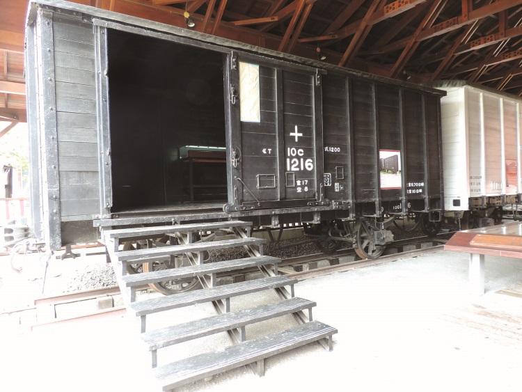 车埕火车展示馆里可看到集集支线铁道模型外,也能了了解关于火车的小咨询。