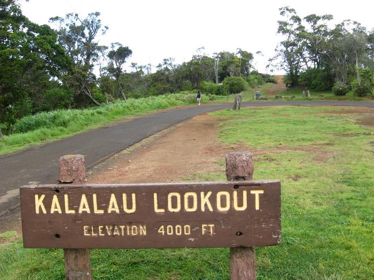走向卡拉劳山谷中心的瞭望台(Kalalau Lookout)吧!