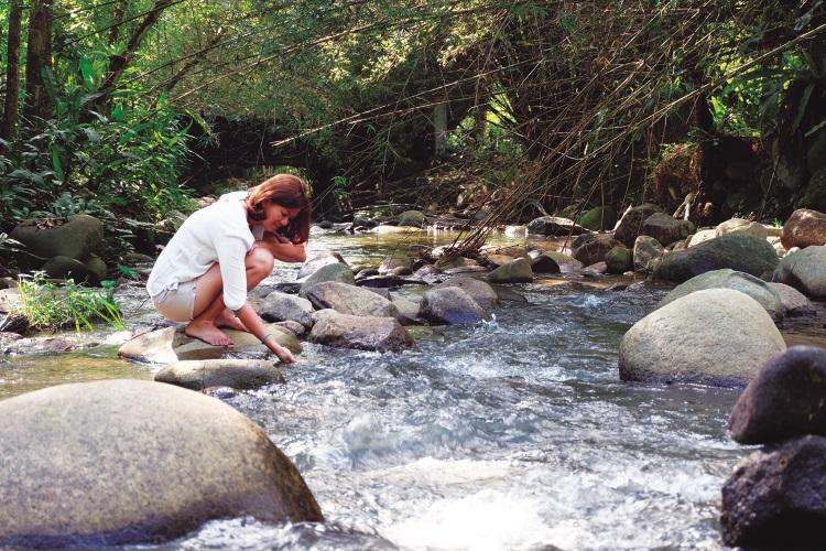 淅淅的流水,让人心情不自觉的好起来。
