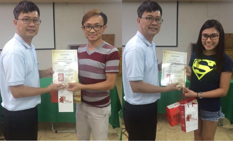 左起:陈颖胜 ‧ 《星洲日报》(东马); 张家祯 ‧ 《东方日报》