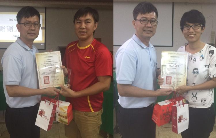 左起:张志玟 ‧ 《中国报》; 蔡淑姗《星洲日报》