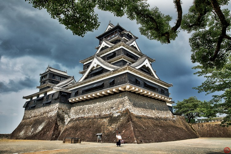 熊本城,未坍塌前的原貌。