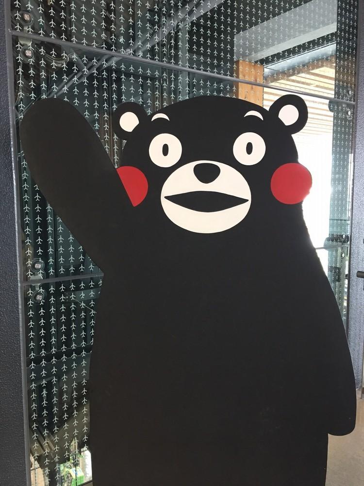 第二天,在熊本机场离境大厅,我又见到了元起活泼的熊本宝宝;它果然都在!