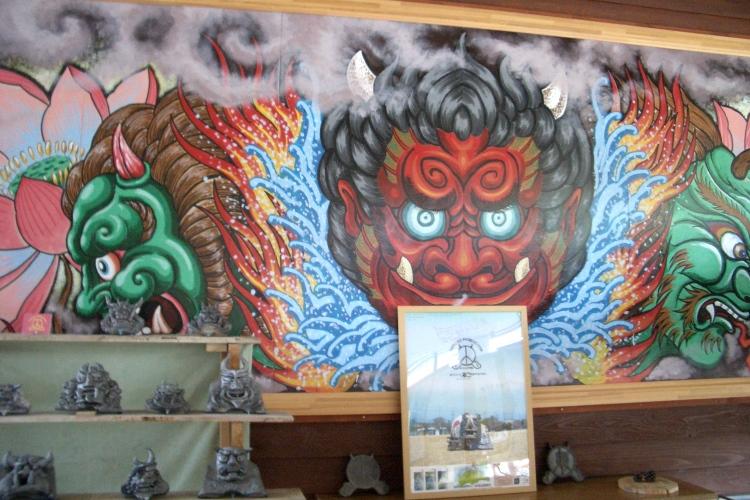 魔鬼岛的鬼怪馆 魔鬼岛鬼怪馆馆内,展示全国鬼怪相关资料。