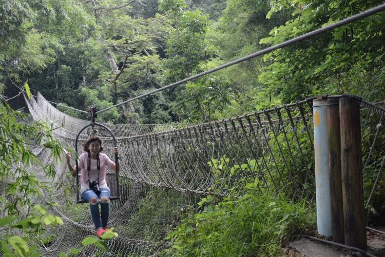 配合山势地形打造的高空滑车及绳索吊桥,刺激又好玩,堪称老少咸宜。