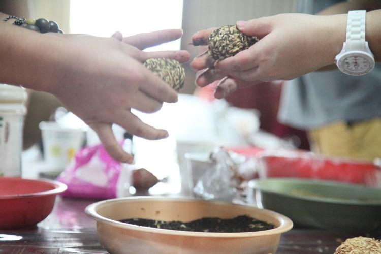 DIY制作醃制咸鸭蛋活动