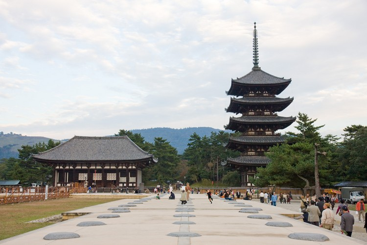 Kofukuji building area and pagoda