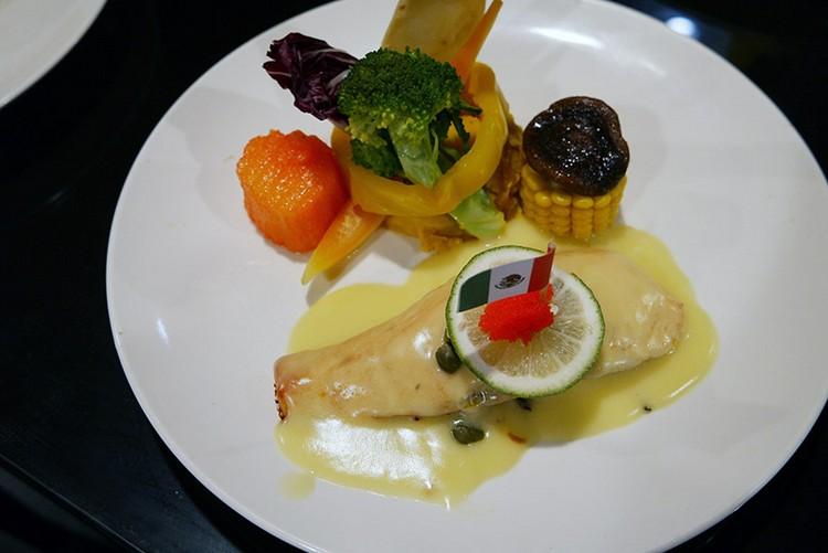 地中海魚子醬鮭魚排