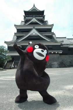 可爱的熊本熊,是熊本县的吉祥物,也是吉祥物中的人气王!