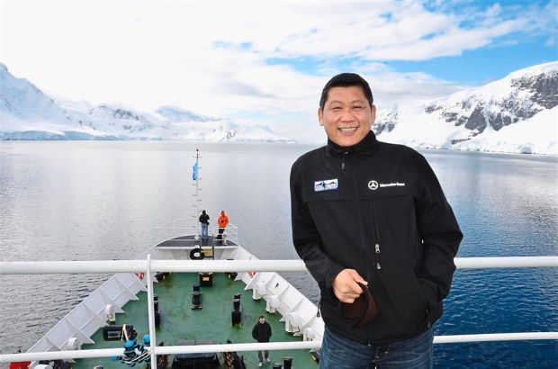 Lee's business is travel, and he also likes to travel for leisure, including to the Antartica.