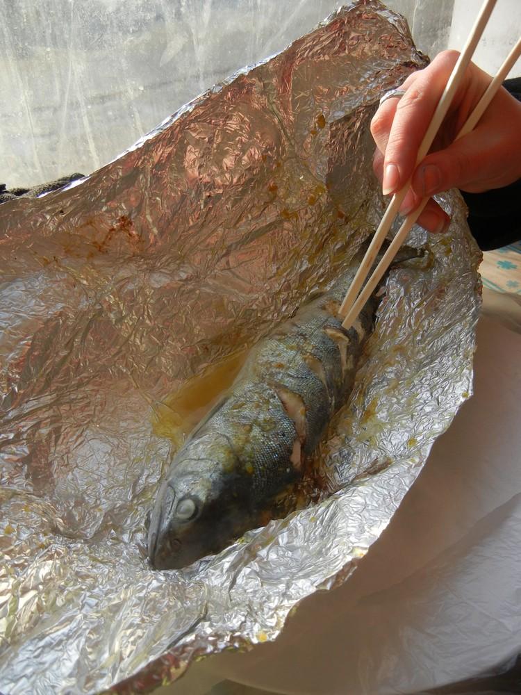 钓到的山鳟鱼,将会以自身来向你阐述它的天然清甜。
