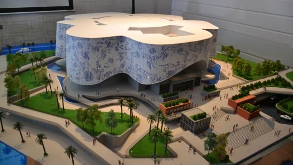 印象马六甲剧场目前在杭州进行组装,将分阶段运来马六甲填海区建造。(图:星洲日报)