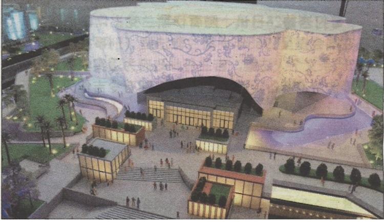 """""""印象马六甲""""场馆外观设计独特,预计建竣后将成马六甲的地标之一。"""