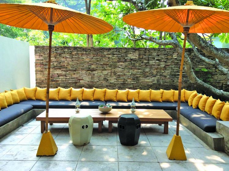 Oasis Spa中心以黄色做为装潢主色,看来对芒果真的情有独钟,相映成趣。