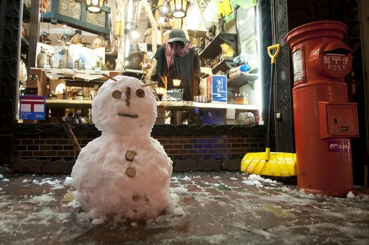 可爱的雪人向你问好!