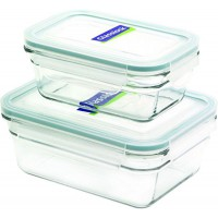 Glasslock 2pcs Tempered Glass Food Container