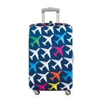 LOQI Airport Collection Luggage Cover | Airplane