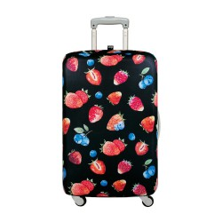 LOQI Juicy Collection Luggage Cover | Strawberries