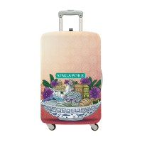 LOQI Urban Collection Luggage Cover | Sights of Singapore