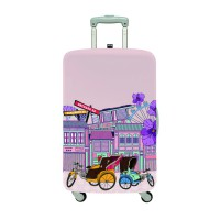 LOQI Urban Collection Luggage Cover | Singapore Streets