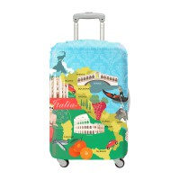 LOQI Urban Collection Luggage Cover | Italy