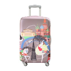 LOQI Urban Collection Luggage Cover   Moscow