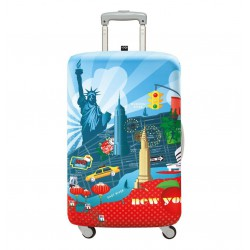 LOQI Urban Collection Luggage Cover   New York