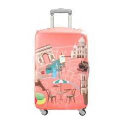 LOQI Urban Collection Luggage Cover | Paris
