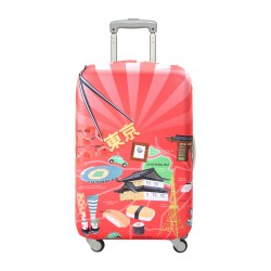 LOQI Urban Collection Luggage Cover | Tokyo
