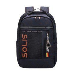 Solis Casual Colorblock Backpack   Camouflage Series (Black Camo)