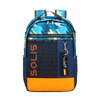 Solis Casual Colorblock Backpack | Fancy Party Series (Vibrant Blue)