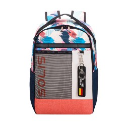 Solis Casual Colorblock Backpack   Fancy Party Series (Vitality Pink)