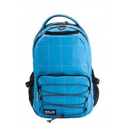 Solis Drawstring Laptop Backpack   Intersection Series (Sky Blue)