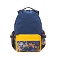 Solis ONES Basic Laptop Backpack | Reflective Skull Series (Rattan Yellow)
