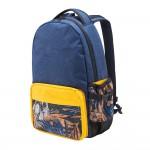 Solis ONES Basic Laptop Backpack   Reflective Skull Series (Rattan Yellow)