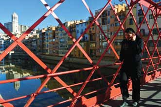 Eiffel Bridge is a lovely complement to the colourful houses that line the River on either side.