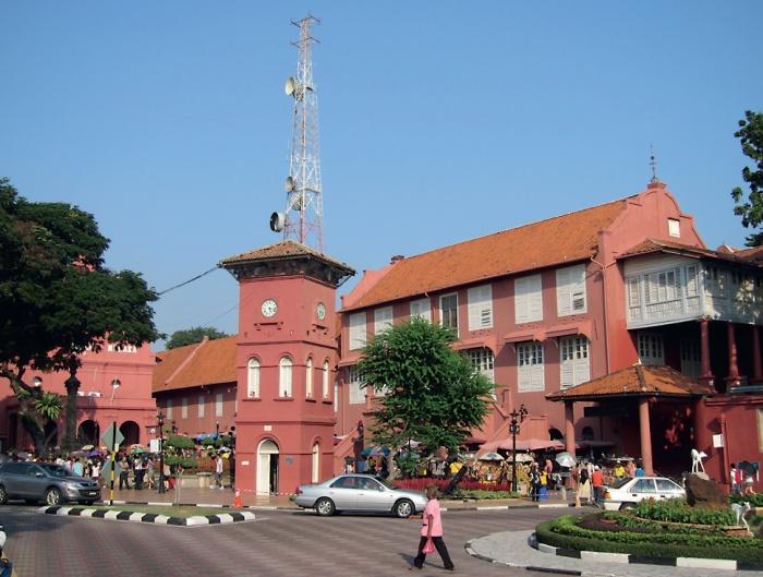 马六甲古迹红屋:荷兰殖民时期建设局