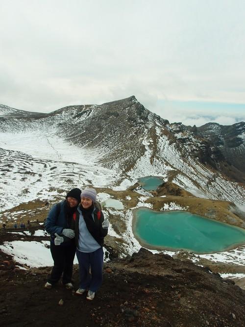 三个星期后,我们再度来到鲁阿佩胡火山,没想到被雪掩盖的火山又别有一番风味。