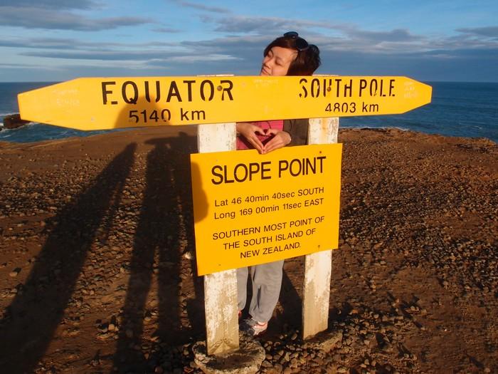 纽西兰最南的斯洛普角(Slope Point)。