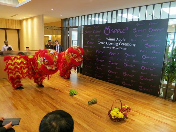 有幸邀请到全球冠军,柔佛麻坡关圣公的醒狮团来开幕仪式!