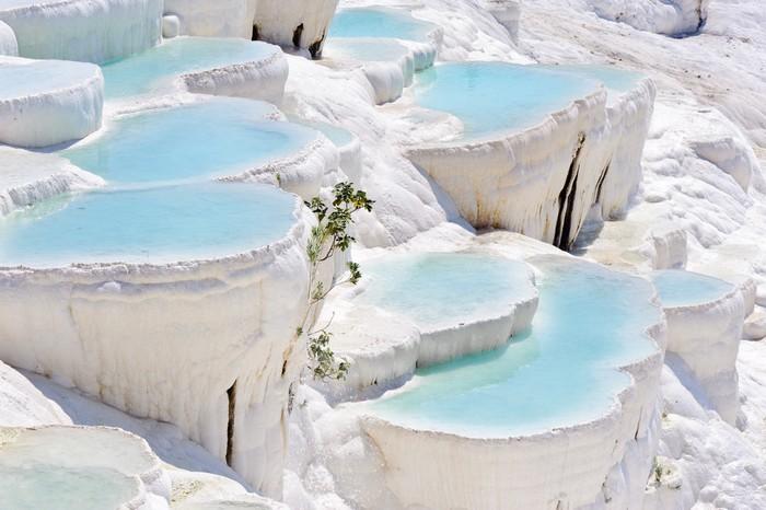 棉花堡天然蓝色彩池