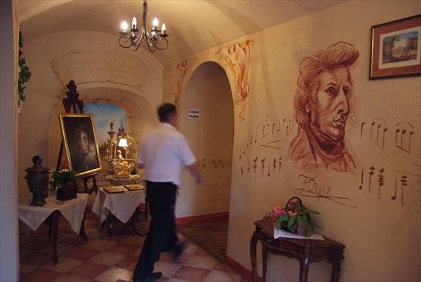 肖邦生前经常光顾的餐厅。