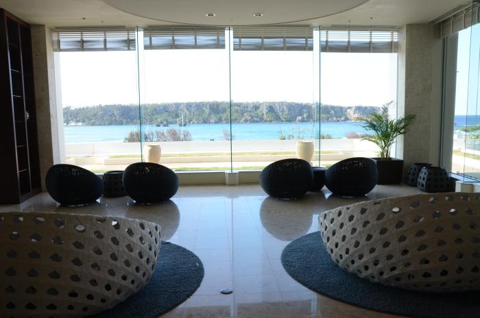 酒店Lobby的氛围非常舒适。